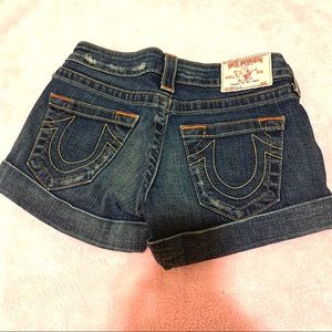 TRUE RELIGION jean shorts- like new - size 25